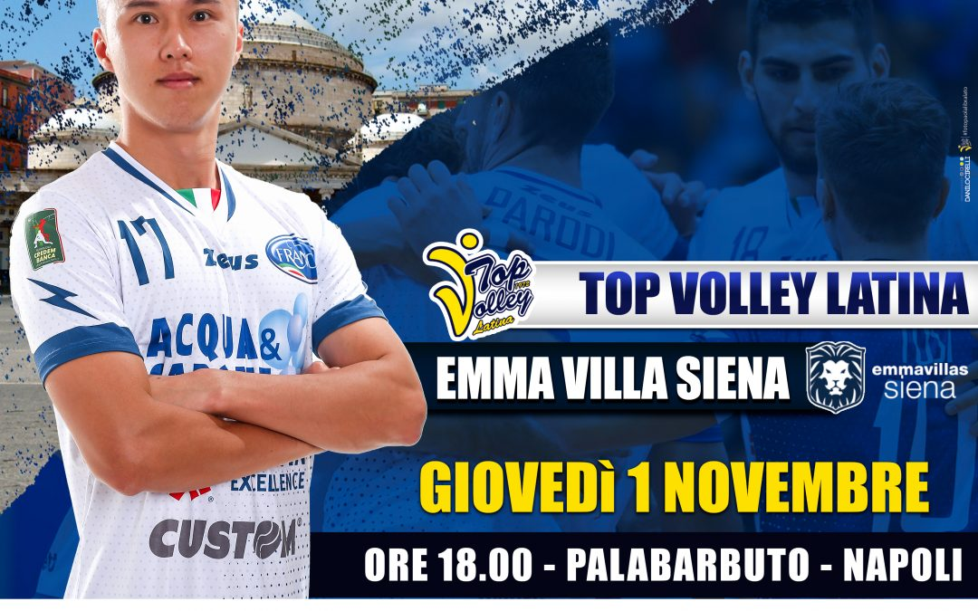 """La Top Volley Latina impegnata al PalaBarbuto di Napoli contro Siena. Tubertini: """"Abbiamo trovato punti e vittoria ma ora affrontiamo Siena"""""""