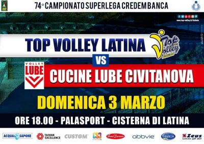 Top Volley vs Cucine Lube Civitanova (03/03/2019)