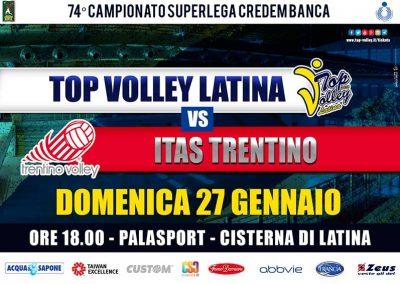 Top Volley Latina vs Itas Trentino (27/01/2019)