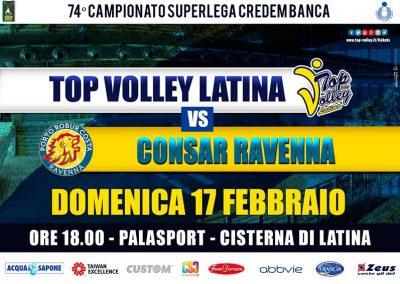 Top Volley Latina vs Consar Ravenna (17/02/2019)
