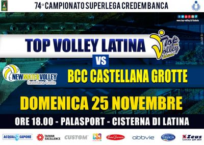 TOP VOLLEY Latina vs BCC Castellana Grotte (25/11/2018)