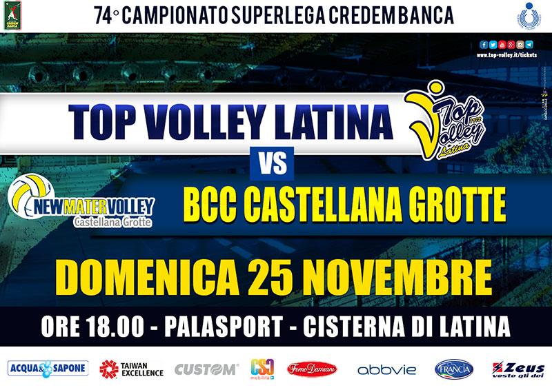 TOP VOLLEY Latina vs BCC Castellana Grotte (25/11/2018)