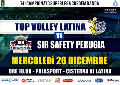 Top Volley Latina vs Sir Safety Conad Perugia (26/12/2018)