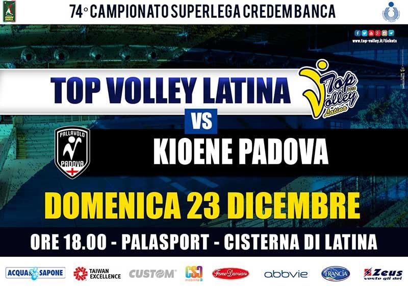 Top Volley Latina vs Kioene Padova (23/12/2018)
