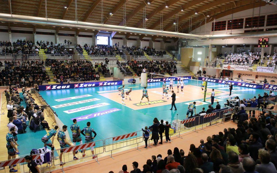 Comunicato stampa, la Top Volley Latina cede con i campioni d'Italia di Perugia ma nel palazzetto di Cisterna di Latina arriva il nuovo record di pubblico