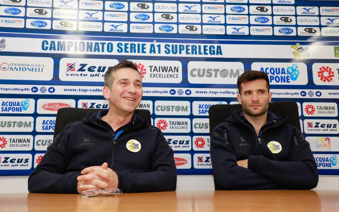 """Domenica alle 18 arriva Trento. Tubertini: """"Siamo ancora in una zona delicata, bisogna cercare sempre di muovere la classifica""""."""