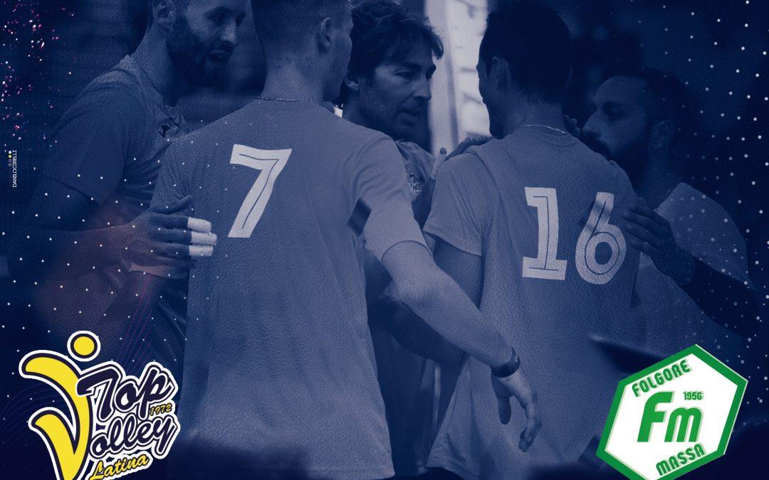 Domani (18:30) la Top Volley impegnata nell'allenamento congiunto a Cisterna con la Folgore Massa