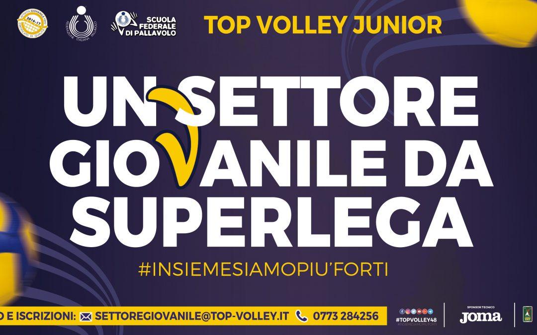 Riparte lunedì l'attività del settore giovanile della Top Volley