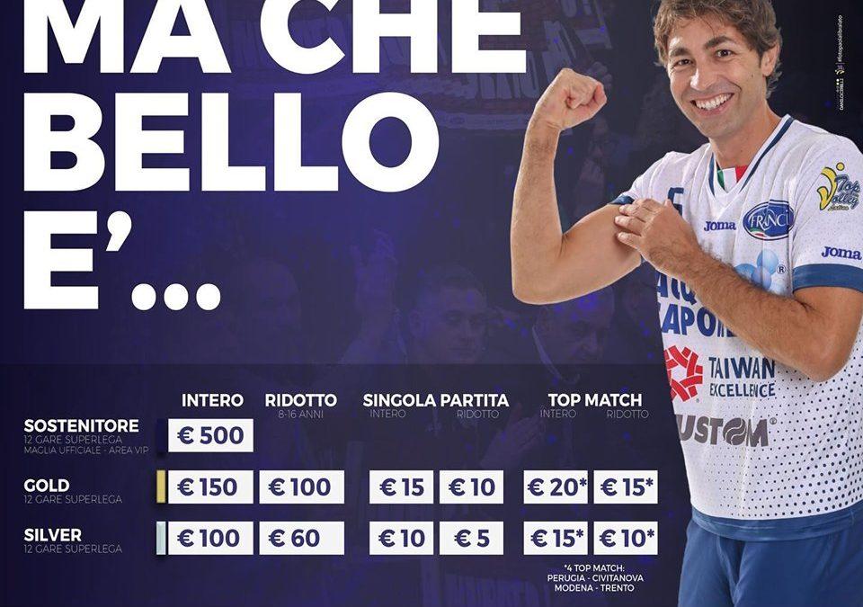 """""""Ma che bello è"""" bis! La Top Volley lunedì riapre la campagna abbonamenti per la Superlega! Ecco tutto quello che c'è da sapere"""