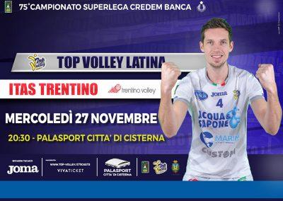 Top Volley Latina vs Itas Trentino