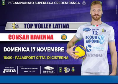 Top Volley Latina vs Consar Ravenna