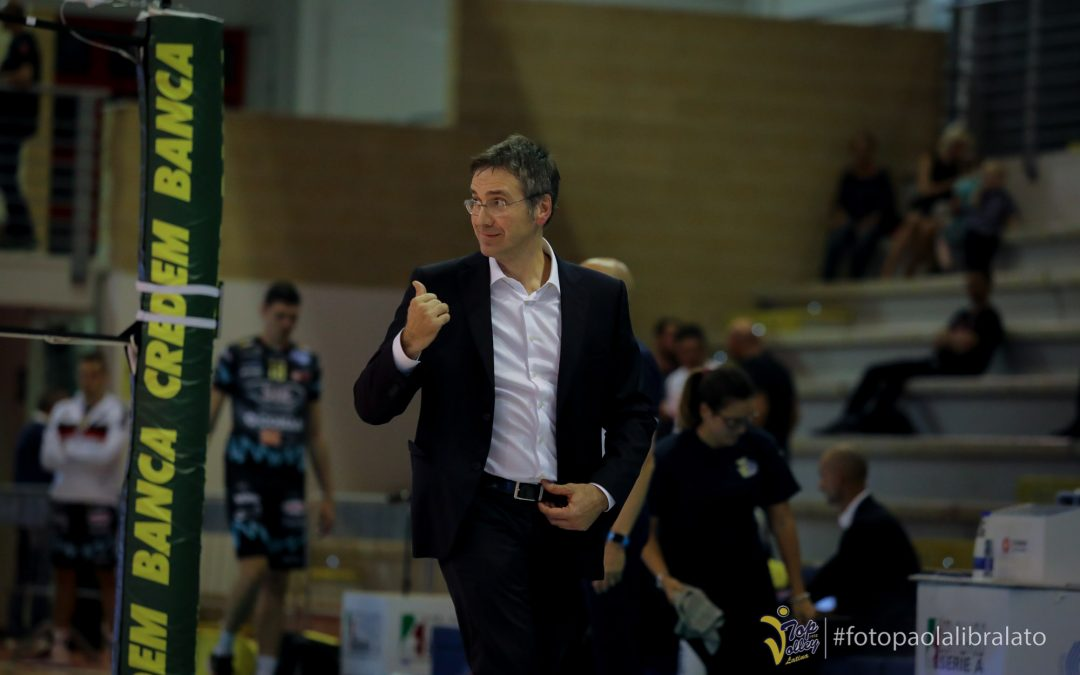 """Domani la Top Volley in campo a Civitanova. Tubertini: """"Dobbiamo mantenere alto il livello. La Lube? Dopo la Supercoppa hanno l'obbligo di tornare a vincere subito"""""""