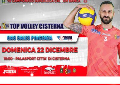 Top Volley Cisterna vs Gas Sales Piacenza