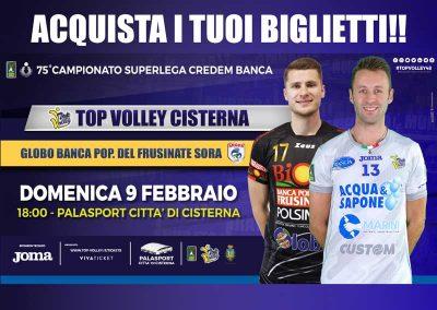 Top Volley Cisterna vs Globo Banca Pop. Frusinate Sora (9/02/20)