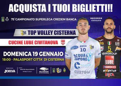 Top Volley Cisterna vs Cucine Lube Civitanova (19/01/20)