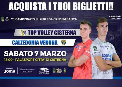 Top Volley Cisterna vs Calzedonia Verona (07/03/20)