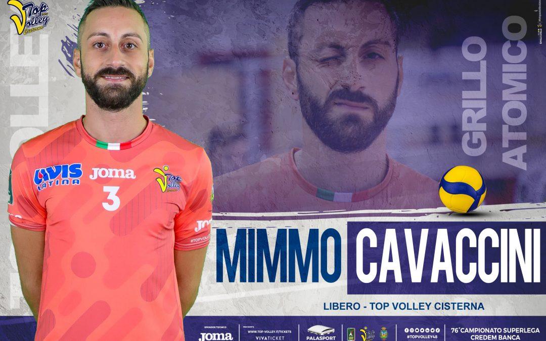 Cavaccini firma per altri due anni con la Top Volley Cisterna. «Servirà subito mentalità vincente e spavalda». Tubertini: «Sta confermando il suo valore»