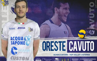 Oreste Cavuto alla Top Volley Cisterna: «Il progetto qui è ambizioso». Candido Grande: «Apprezziamo la sua voglia di scegliere noi»