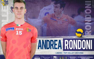 La Top Volley Cisterna conferma il libero Andrea Rondoni: «Sono felice, ora dovrò continuare a lavorare duro»