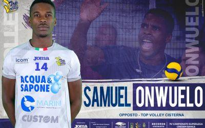 Samuel Onwuelo confermato alla Top Volley Cisterna: «La società ha avuto fiducia e io mi farò trovare pronto quando sarà il momento»
