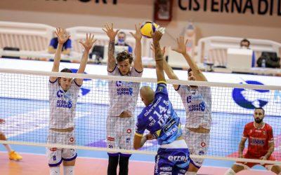 La Top Volley Cisterna cede a Trento in quattro set. Tillie: «I nostri avversari hanno battuto molto bene. Volevamo portare il match al tie-break»