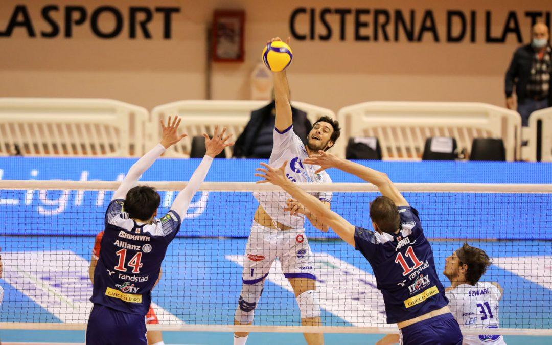 La Top Volley Cisterna cede in tre set a Milano. Kovac: «Oggi siamo stati senza carattere e senza tante altre cose»