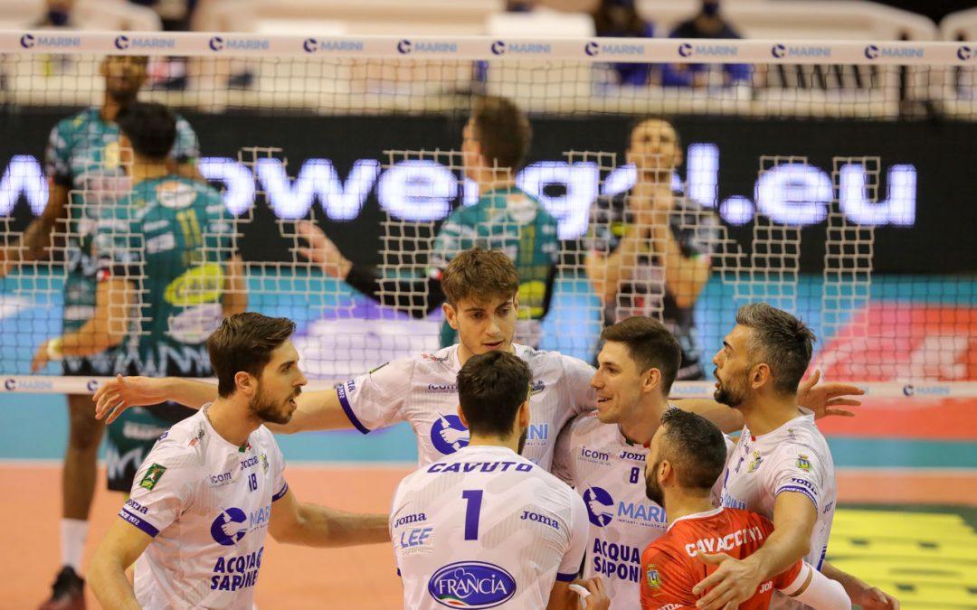 La Top Volley Cisterna cede alla capolista Perugia in tre set. Kovac: «Non sono contento, sto male così. Facciamo troppi errori banali»