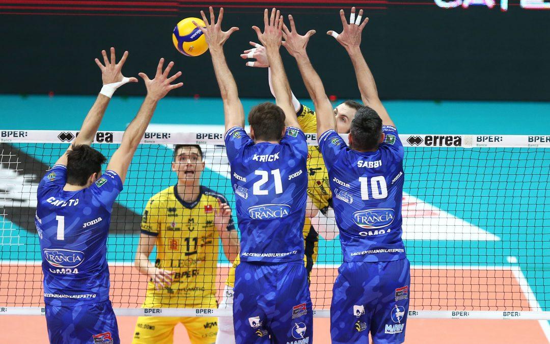 La Top Volley Cisterna parte alla grande ma poi cede nella trasferta di Modena. Kovac: «Dovevamo vincere almeno un altro set»