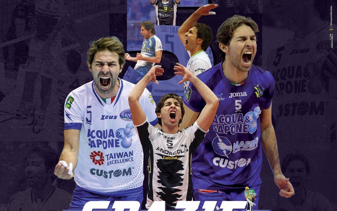 La Top Volley saluta Daniele Sottile dopo undici anni di passione e grande impegno. «Grazie a Latina e a Cisterna, io e la mia famiglia vi porteremo sempre con noi»